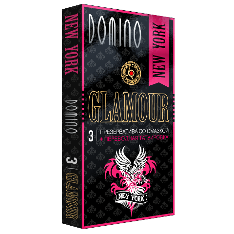 Презервативы Domino Glamour New York + Тату