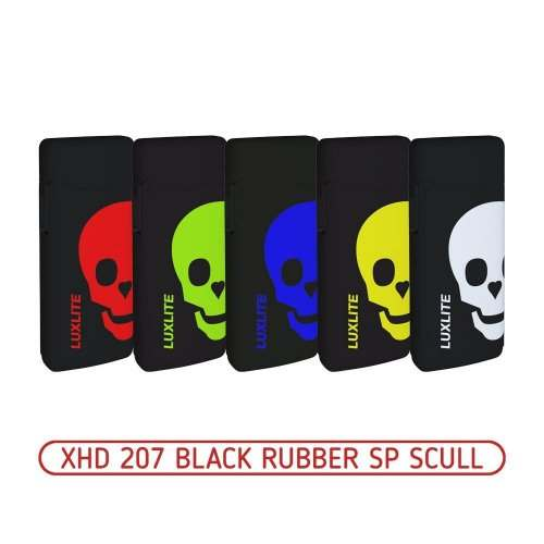 Зажигалка XHD 207 Black Rubber SP Scull
