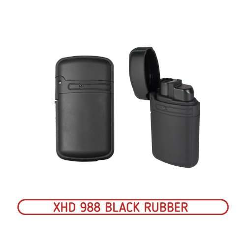 Зажигалка турбо XHD 988 Black Rubber